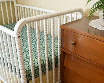 Teal & Gold Mandala Crib Bedding