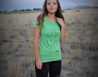 SW Love Green Cactus triblend shirt