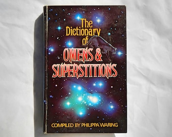 Dictionary of Omens & Superstitions by Philippa Waring Vintage Hardcover Book