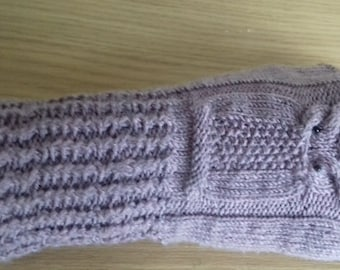 Knitted Fingeless Mittens