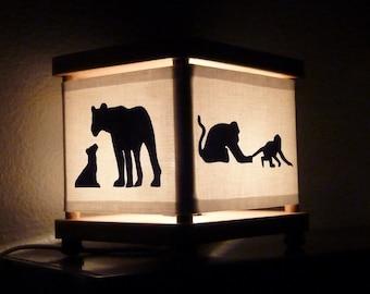 Safari Animal Night Light Giraffe Elephant Monkey Lion
