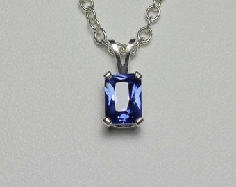 Tanzanite Sterling Silver Necklace / Pendant FREE CHAIN