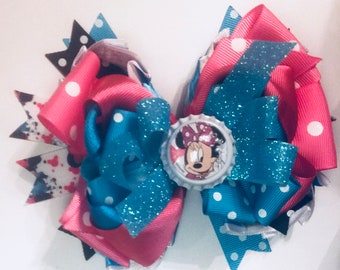 6 Layer Minnie the Mouse Stacked Boutique Bow