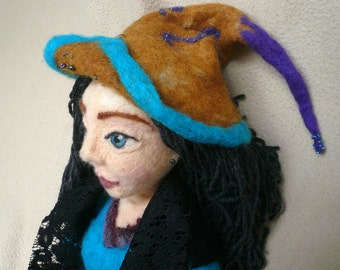 OOAK Needle Felted Witch/Needlefelted Doll/ OOAK/Felted Art Doll