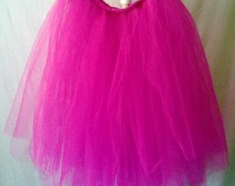 Hot Pink Tutu,Baby Tutu,Toddler Tutu,Marathon Tutu,Disney Tutu,Photo Prop Tutu,Birthday Tutu,Handmade All Sizes Child,Teen,Adult, Plus Size