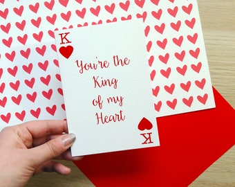Fun 'You're The King of My Heart' Deck of Playing Cards / Valentine's Day / Cute Valentines / Birthday / Anniversary / Boyfriend / Husband
