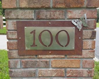 Home address plaque custom metal
