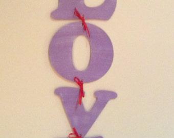 Valentine's Day Decor Vertical Sign Valentine's Day Decoration