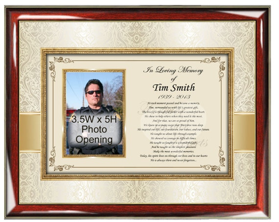 Sympathy Memorial Poetry Frame Personalized Picture Frame Poetry ...
