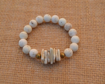 Magnesite Stretch Bracelet