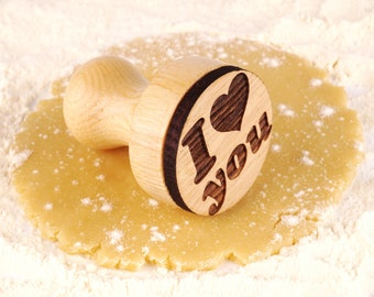 Personalized With Love Stamp Custom Wedding Stamp Engraved Cookie Plunger Wooden Personalized Gift Custom Wedding Favors Stamp with Names