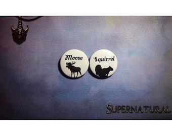 Supernatural button set of 2
