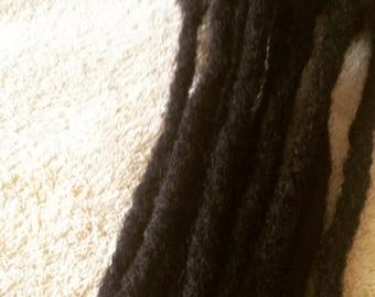 100% Virgin Human Hair Loc Extensions 10 LOCS PER BUNDLE