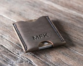 Business Card Case PERSONALIZED WALLET - Minimalist Card Wallet  - Gift Ideas for Him/Her - 023