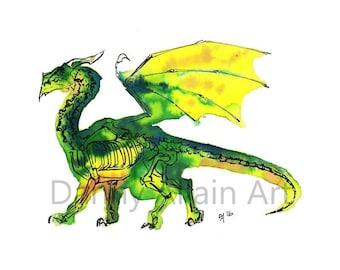 Dragon Bones Art Print
