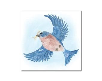 Bluebird 4 Print of Original Acrylic Painting