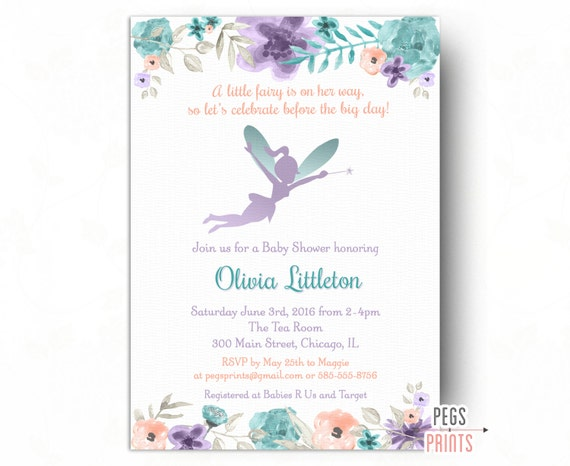 Fairy baby shower invitation whimsical baby shower like this item filmwisefo Images
