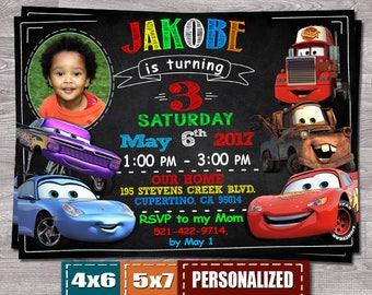 Cars birthday invite Etsy