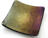Copper purple gold irides...