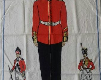 Goldstream Guards linen tea towel.