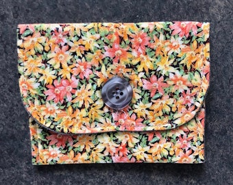 Floral and Gray - Gift Card/Cash/Credit Card Pouch
