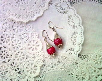 Pink and Silver Earrings (1894)