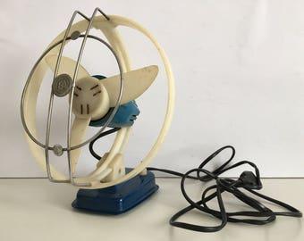 Old Fan -  Vintage ventilator - Vintage Electric Fan - Office fan - Desktop Ventilator -  Two Degrees Fan - Office gift