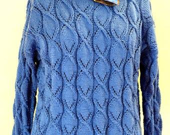 Handknit Sweater, Size M, Womens Sweater, Handmade Sweater, Knit Pullover, Wool Sweater, Womens Clothing, Sweater, Knitted Sweater, Clothing