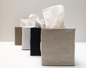 4 linen tissue covers