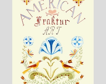 Digital Printable E-Book Folk Art Coloring Book – American Fraktur Paint and Color Book