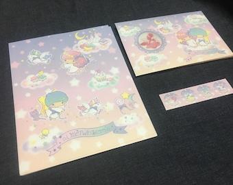 Sanrio kawaii Little twin stars letter set from japan