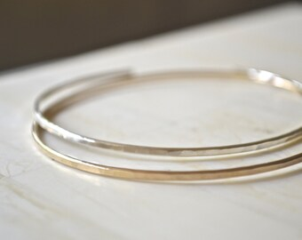 Bangle Sterling Silver Bangle Cuff Bracelet Silver Bracelet Stacking Bracelet Simple Bracelet