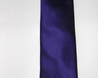Vintage dark purple pure silk tie/ Handmade silk necktie / Men's accessories/ 100% silk tie