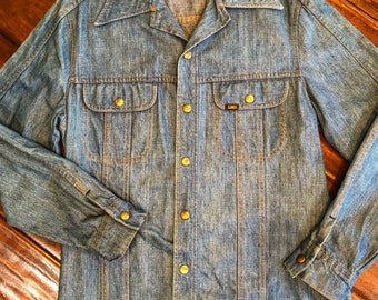 Vintage Lee Denim Shirt Medium