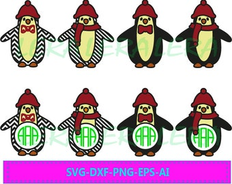 60 % OFF, Penguin Monogram Frames Svg, Eps, Png, Dxf,Ai, Penguin Monogram Frames Cut Files, Christmas Penguin Svg, Silhouette Studio, Cricut