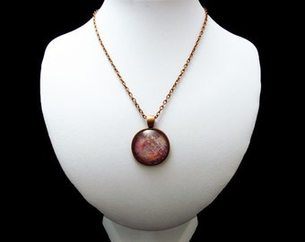 Pendant Necklace - American Intelajince - By Mixed Media Artist Malinda Prudhomme