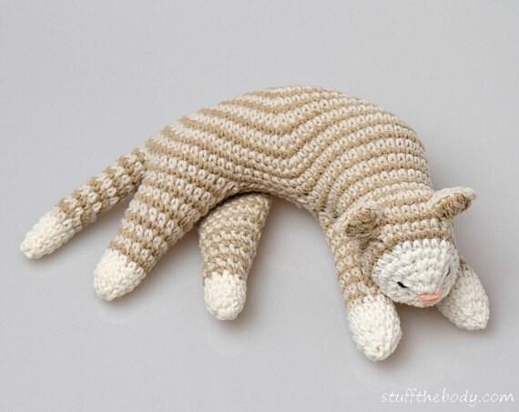 Sleepy Cat Crochet Pattern Cat Amigurumi Pattern Home Decor