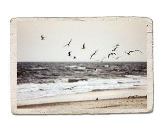 Ocean Photograph Summer Dreams Vintage Style Landscape Beach Sand Surf Water Sea Fine Art Photo