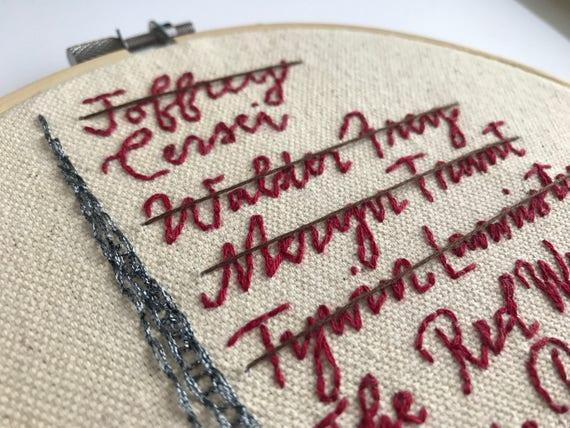 Arya Stark Arya Game Of Thrones Gift Pattern Embroidery