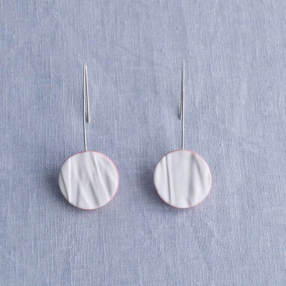 RUCHED No13 geometric circle earrings