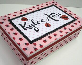 Keepsake Box Ladybug Personalized