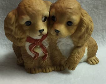 Two Brown Puppies by Homco (#072)