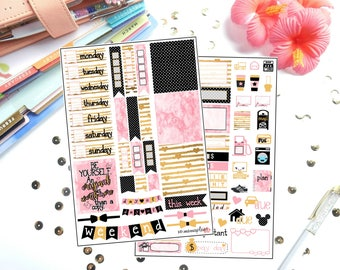 Decorate Like Me #22 Golden Girly for Erin Condren Life Planner/Planners