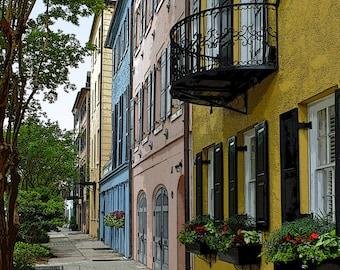 Rainbow Row, Rainbow Row SC, Charleston SC, Charleston Art, Charleston Print, Charleston Photography, Charleston Fine Art, #CH 3616
