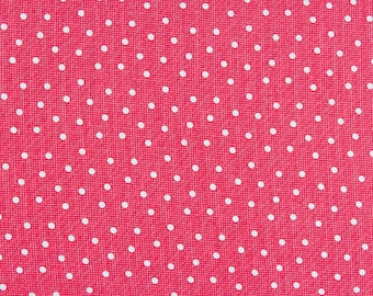 CLEARANCE Lakehouse Dry Goods Pam Kitty Pink Pong Red Polka Dot LH1016 On Sale