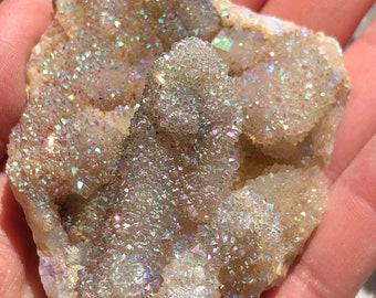 Spirit Aura Quartz Rainbow Spirit Aura Angel Aura Spirit Quartz Cluster Aura Crystal Rainbow Angel Aura Quartz Crystal Opal Aura Quartz A5