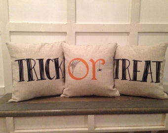 Trick or Treat Pillow Set