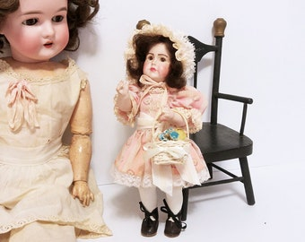 "Little 10"" Simon and Halbig Reproduction Doll/ All Bisque Mignonette Style Doll/ OOAK Artists Reproduction of Antique German Doll"