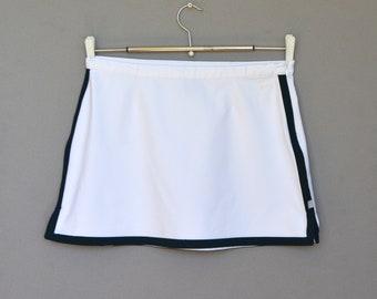 Vintage Nike white tennis skirt Nike Miniskirt White Mini Skirt 90s Athletic Wear Nike Skirt size medium