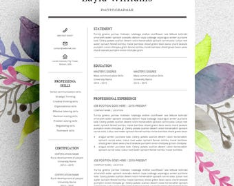 Clean & Modern Resume template (curriculum vitae/CV) with Cover letter+ extra icons
